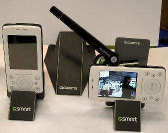 Gigabyte Communications' GSmart i200 DVB-H handset