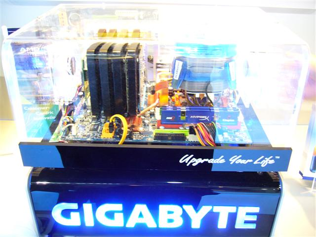 Gigabyte demos a new AMD 790 chipset motherboard