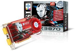MSI ATI RX3870 graphics card
