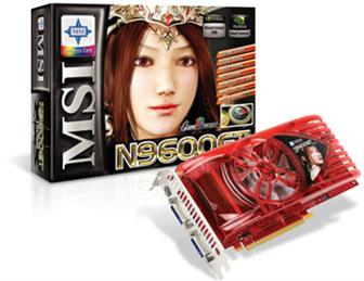 MSI N9600GT graphics card