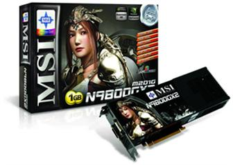 MSI N9800GX2 series graphics card