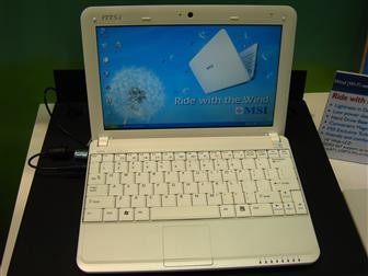 MSI 10-inch Wind Notebook