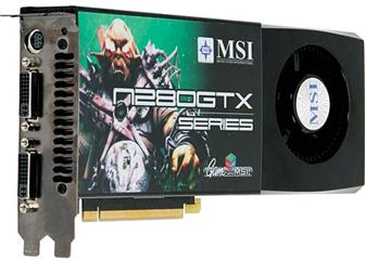 MSI N280GTX-T2D1G graphics card