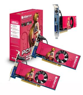 Albatron PCI port-based GeForce 8 series graphics card
