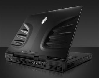 Alienware M17 notebook features dual ATI Radeon 3870 graphics cards with CrossFireX technology