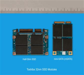 Toshiba 32nm SSD using mSATA