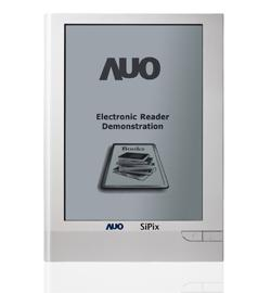AUO 9-inch touchscreen e-book reader