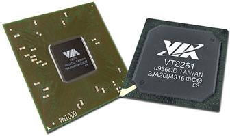 VIA VN1000 chipset and VT8261 southbridge chipset