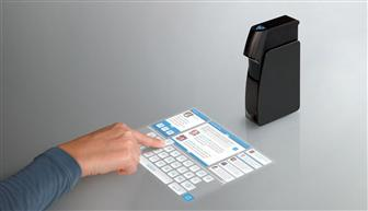 Light Blue Optics projector with a interactive touch screen - the Light Touch