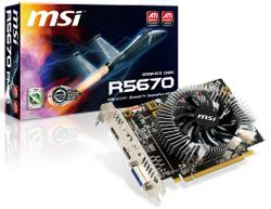 MSI R5670-PMD1G graphics card