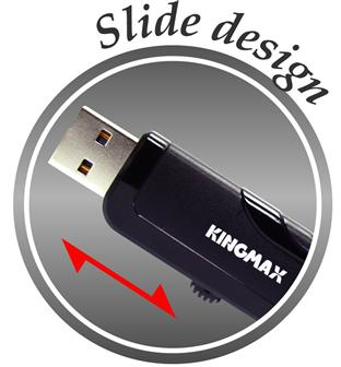 Kingmax PD-02 with slide-out USB connector