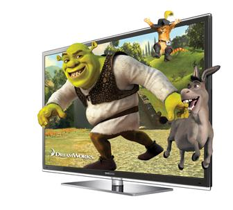 Samsung Electronics full HD 3D plasma TV, the D8000
