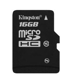Kingston 16GB Class 10 microSDHC card