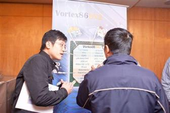 DMP shows off the powerful features of its Vortex86 DX2 SoC to participants at the Digitimes Embedded Technology Forum
