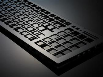 A RHCM keyboard with a high-gloss surface