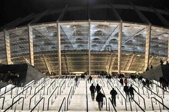 Safety and aesthetics are combined in time for the 2012 European Football Championships: the steps at the Kiev stadium are enhanced by state-of-t