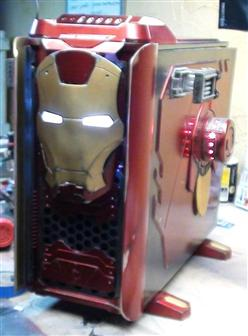 Thermaltake Armor Revo Snow edition Iron Man Mod