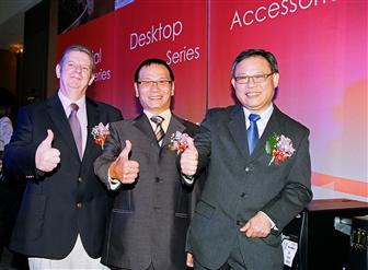 Dick Tai (middle), president and CEO, Daniel Chang (right), vice president, Barry Rose (left), consultant