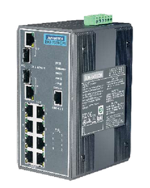 Advantech's EKI-2525P PoE switches feature a compact size and support 4 PoE ports at 15.4W of power per port.