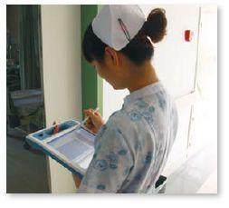 The Advantech MICA-101 Mobile Clinical Assistant was chosen for use by nursing staff and technical clinicians.