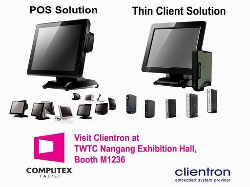 Clientron will exhibit its latest Zero/Thin Client and POS solutions at Computex Taipei 2013