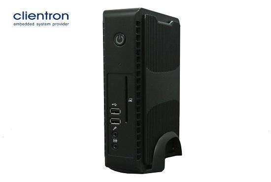 The Clientron thin client F800 based on the new Intel Celeron SoC to optimize the virtual desktop experience.