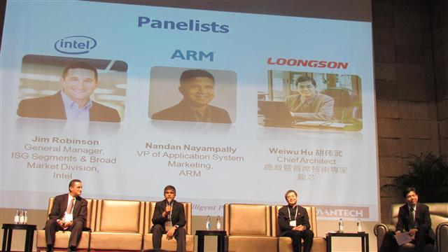 In WPC 2013,, Advantech invited important guests from Intel, ARM, and Loogson to join a panel discussion on the theme of