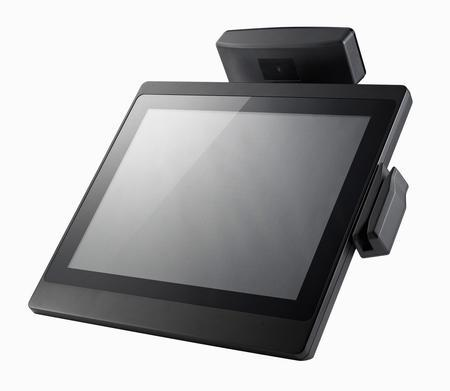 Clientron All-in-One POS Terminal - Mia550 features flat panel and robust aluminum chassis design