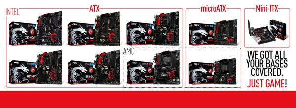MSI GAMING series motherboards