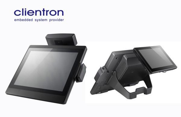 Clientron All-in-One POS Terminal: Mia550 features flat panel and robust aluminum chassis design