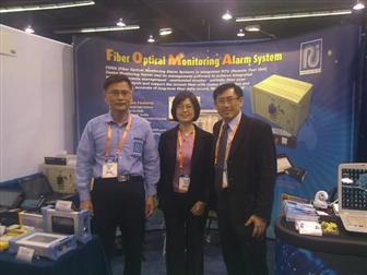 Radiantech CTO William Chang(L), CEO Sharon Sung (M), T