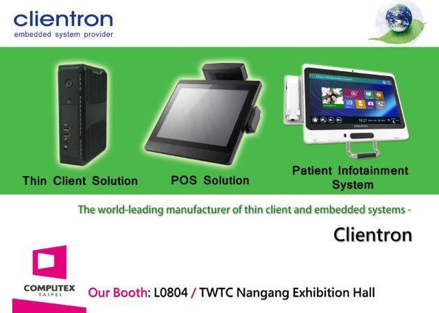Connecting the Intelligent World: Clientron to exhibit its new products for Computex Taipei 2014