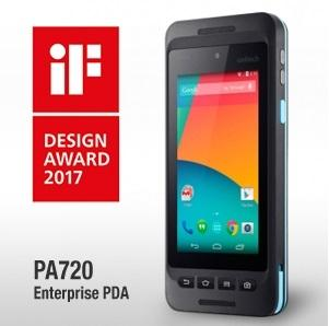 The new Unitech PA720 rugged Android handheld computer wins prestigious iF Design Award for product design