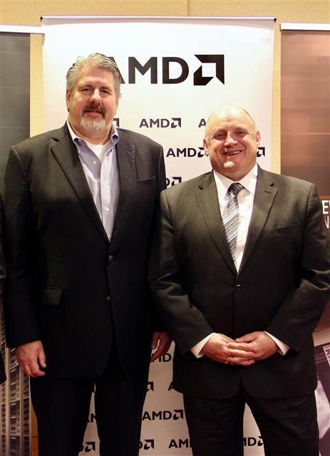 Steve Longoria (left), CVP Sales, and Stephen Turnbull (right), Director of Product Marketing, AMD Datacenter and Embedded Solutions Business Group