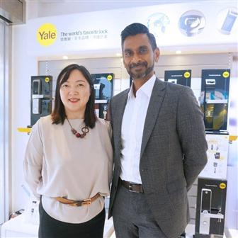 Irene Yip, general manager, ASSA ABLOY Hong Kong (left) and Aravind Karthigesu, managing director, ASSA ABLOY ASEAN (right).