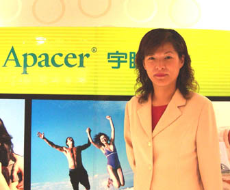 Director of Apacer's DRAM-product division Grace Lo.