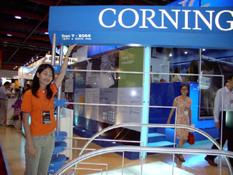 Corning 7G glass substrate at FPD Taiwan 2005 (Jun 08-Jun 10)