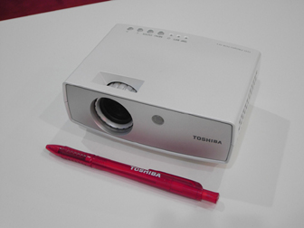 Toshiba introduces an LED pocket projector at IFA 2005 in Berlin