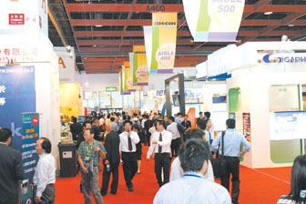 A busy day at SEMICON Taiwan 2005