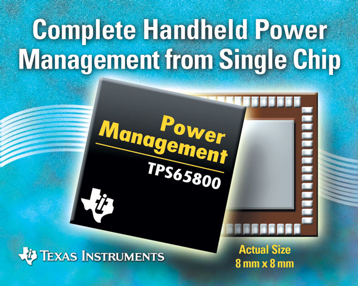 TI introduces integrated handheld power management IC