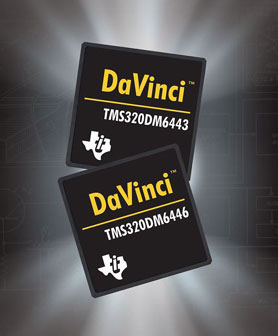 TI announce the availability of its new DaVinci-technology based chips