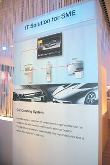 Samsung Electronics introduces 'car creating' system at CeBIT