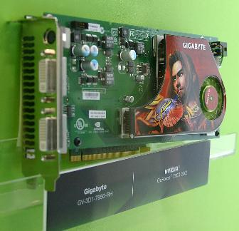 The Gigabyte GV-3D1-7950-RH Nvidia GeForce 7950 GX2-based graphics card at Computex 2006