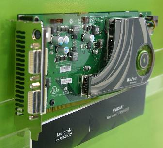 Leadtek's WinFast PX7950GX2 Nvidia GeForce 7950 GX2-based graphics card at Computex 2006