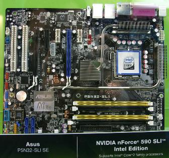 Nvidia nForce 590 SLI Intel Edition-based Asustek P5N32-SLI SE motherboard