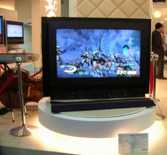 Teco's 46-inch LCD TV on display at Computex Taipei 2006
