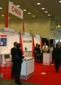 China pavilion at SEMICON West 2006 on the third level of the West Hall