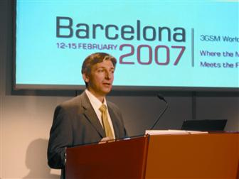 Symbian CEO delivers speech at 3GSM
