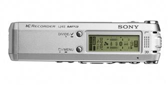 The Sony ICD-SX57DR9 digital voice recorder