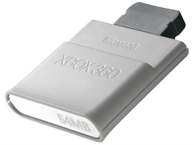 Microsoft's current 64MB memory unit for the Xbox 360